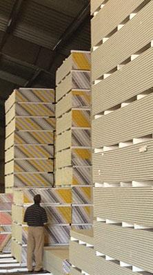 Drywall at HBS Rochester Warehouse